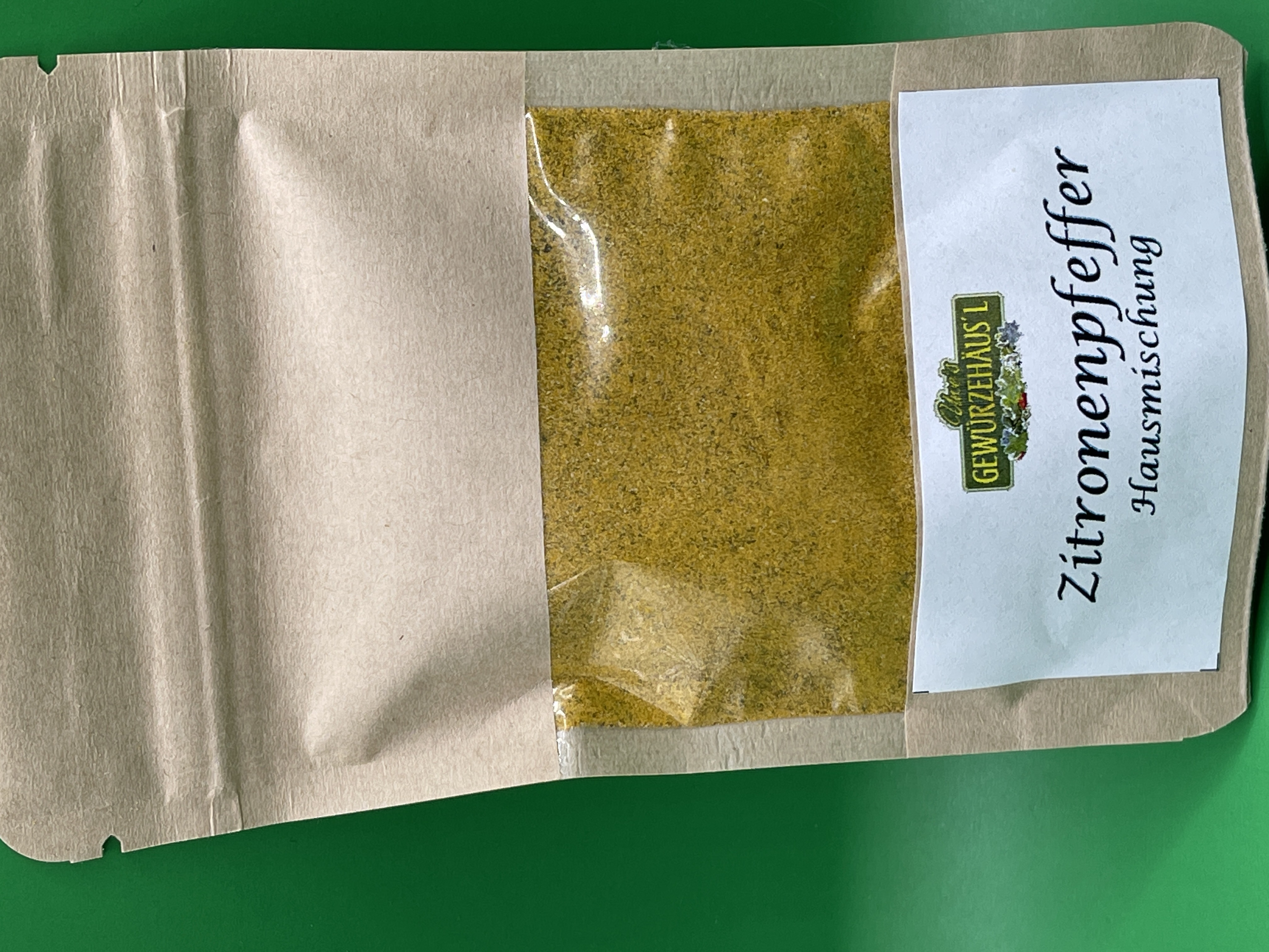 Zitronenpfeffer Gewürzmischung Schwarzer Pfeffer, Zitronenschalen (unbehandelt) Curcuma 40g