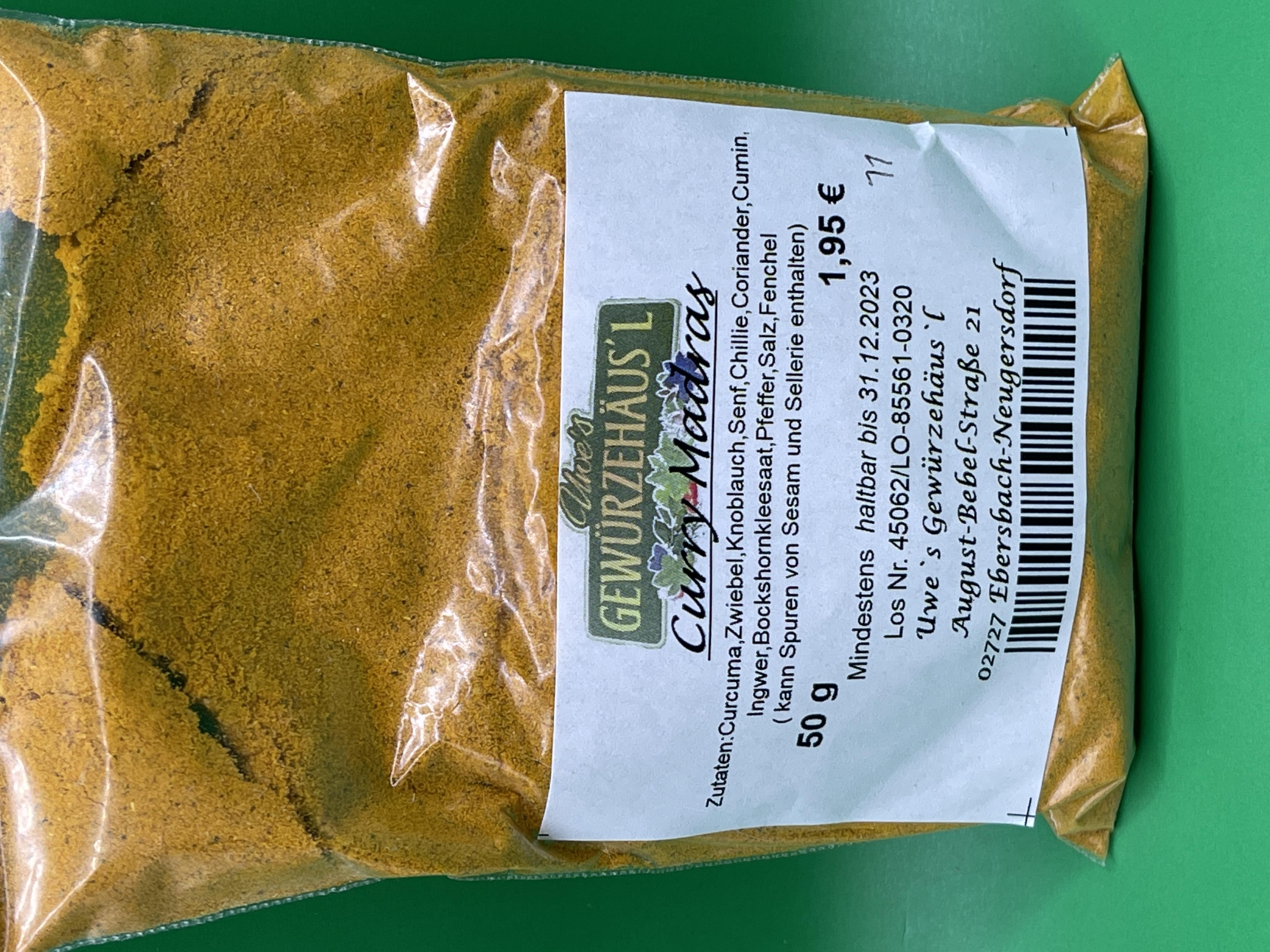 Curry Madras 50g