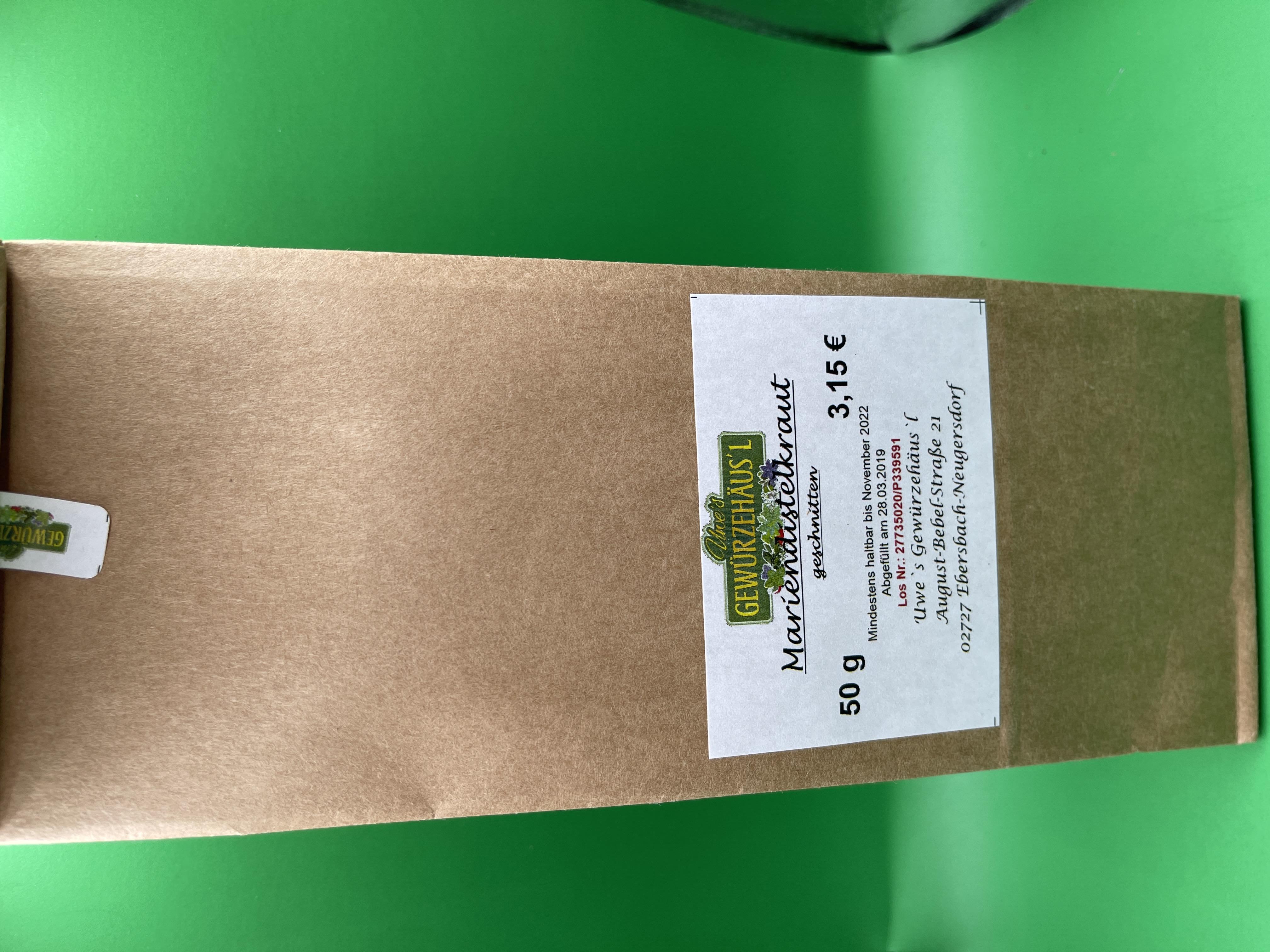 Mariendistelkraut Tee 50 g